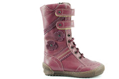 Boot for little girl Royalty Free Stock Photos