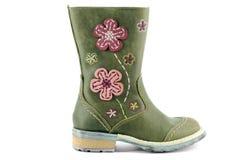 Boot for little girl Stock Image