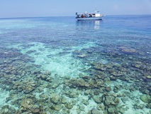 Boot Malediven stockfoto