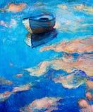 Boot in Meer Stockfotos