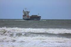 Boot in Meer Stockfotografie