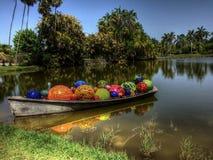 Boot mit Bällen Stockfotografie