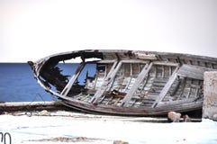 Boot mit einem Loch Lizenzfreies Stockbild