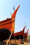 Boot mit Landesflagge Lizenzfreie Stockfotos