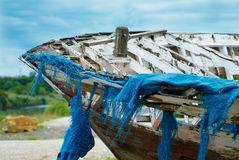 Boot mit Netzen Lizenzfreies Stockfoto
