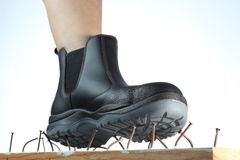 Boot Nails trap Stock Photo