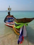 Boot op de oceaan, Thailand. Royalty-vrije Stock Afbeeldingen