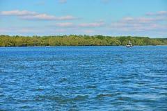 Boot op de rivier van Donau royalty-vrije stock foto's