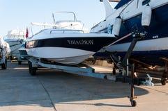 Boot op de Voorraden stock foto