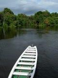 Boot op de Zwarte van Rio, Brazilië Stock Foto