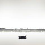 Boot op het meer Royalty-vrije Stock Afbeelding