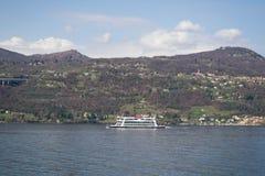 Boot op het meer Royalty-vrije Stock Foto