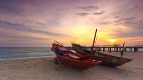 Boot op het strand Royalty-vrije Stock Afbeelding