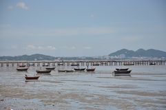 Boot op het strand royalty-vrije stock fotografie