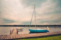 Boot op het water Stock Foto
