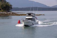 Boot op Juneau, Alaska stock afbeeldingen