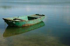 Boot op Meer stock afbeelding
