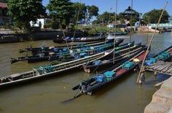 Boot op Meer Inle Stock Foto's