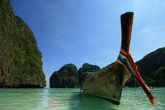Boot op overzees, Thailand stock foto