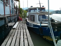 Boot op Pijler Royalty-vrije Stock Foto