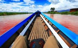 Boot op rivier Royalty-vrije Stock Foto's