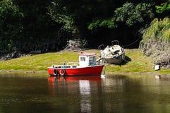 Boot op Rivier Dee, Chester royalty-vrije stock afbeelding