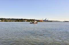 Boot op Rivier Fraser Stock Afbeeldingen