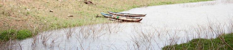 Boot op veerboot Stock Afbeeldingen