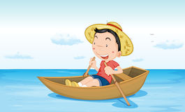 Boot op water Royalty-vrije Stock Fotografie