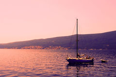 Boot op zee royalty-vrije stock foto