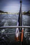 Boot op Zegen stock foto's