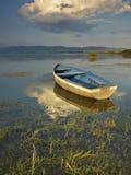 Boot op zonsondergang Royalty-vrije Stock Foto