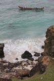 Boot an Ost-lombok Strand Lizenzfreie Stockfotos