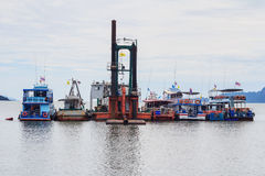 Boot Pak Meng Pier, Trang, Thailand Royalty-vrije Stock Fotografie