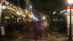 Boot Quay Timelapse Singapur stock footage