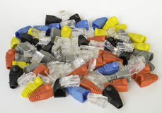 Boot RJ45 And RJ45 Royalty Free Stock Image