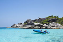 Boot rock, eighth similan island Stock Image