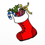 Boot of Santa Claus Royalty Free Stock Image