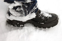 Boot in snow Stock Images