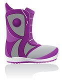 Boot for snowboarding vector illustration Stock Photography