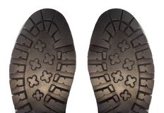 Boot sole isolated on white. Background Royalty Free Stock Photos