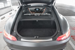 Boot of a sports coupe Stock Photography