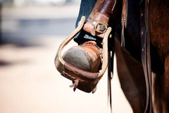 Boot in Stirrup Stock Images