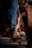Boot in Stirrup Stock Photography