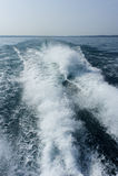 Boot strenge golven Royalty-vrije Stock Foto
