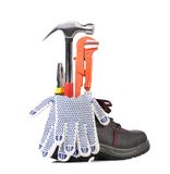Boot with tools inside. Royalty Free Stock Photo