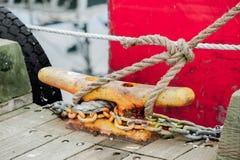 Boot tot cleat wordt gebonden die Royalty-vrije Stock Foto