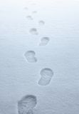 Boot traces in the snow Stock Images