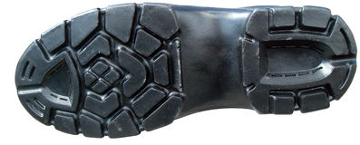 Boot tread. Detailed view of boot sole Royalty Free Stock Image