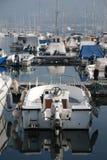 Boot an Triest-Hafen Stockfotografie